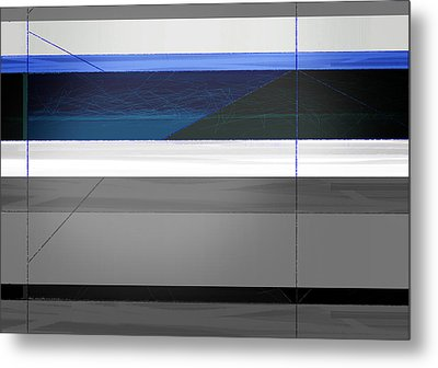 Blue Flag Metal Print by Naxart Studio