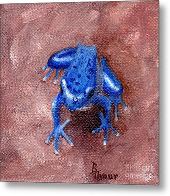 Blue Froggy Metal Print by Brenda Thour
