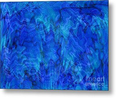 Blue Glass - Abstract Art Metal Print by Carol Groenen