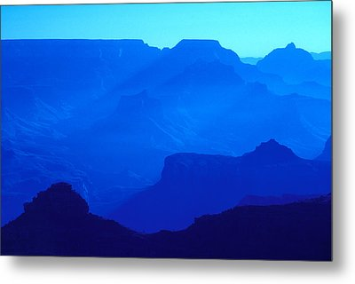 Blue Grand Canyon Metal Print