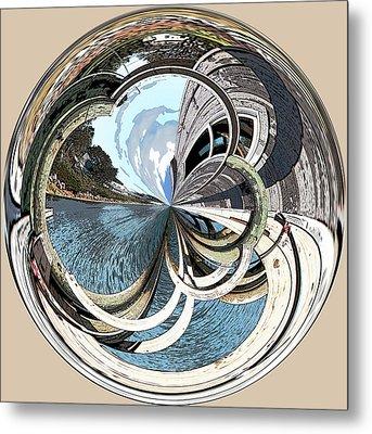 Blue Hill Maine Cove Orb Metal Print
