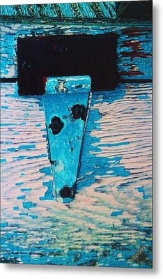 Metal Print featuring the photograph Blue Hinge by Bob Whitt