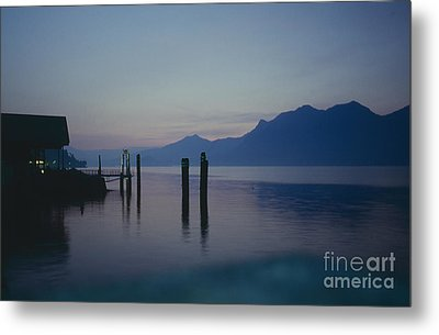 Blue Hour At Dawn On Lago Maggiore Metal Print by Heiko Koehrer-Wagner