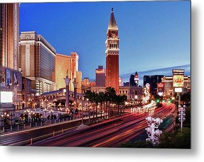 Blue Hour In Las Vegas Metal Print by Bert Kaufmann Photography