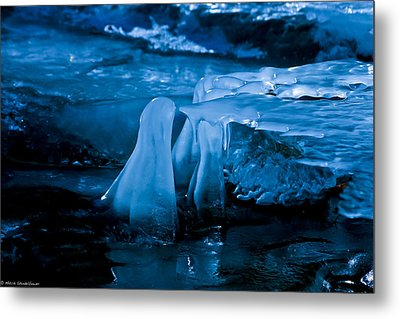 Blue Ice Metal Print by Mitch Shindelbower