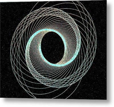 Blue Inner Circle Metal Print by James Steele