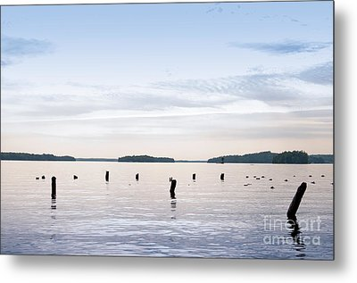 Metal Print featuring the photograph Blue Lake Muskoka by Les Palenik