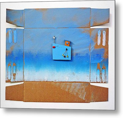 Blue Latitude Metal Print by Charles Stuart
