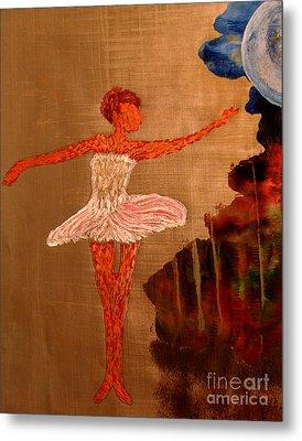 Metal Print featuring the painting Blue Moon Balerina by Ayasha Loya