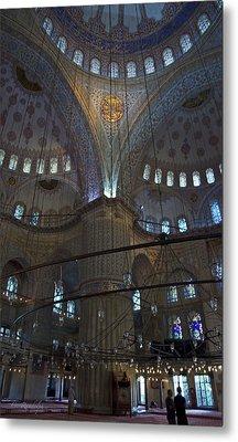 Blue Mosque Interior Metal Print by Cheri Randolph