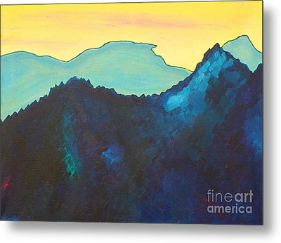 Blue Mountain Metal Print by Silvie Kendall