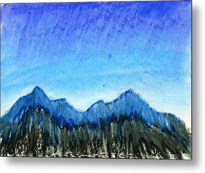 Blue Mountains Metal Print by Hakon Soreide