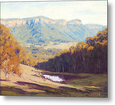 Blue Mountains Paintings Metal Print