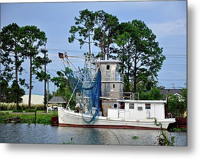 Metal Print featuring the photograph Blue Net by Helen Haw