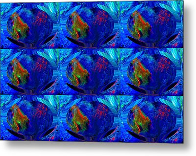 Blue Planet - Tiled Metal Print by Colleen Cannon
