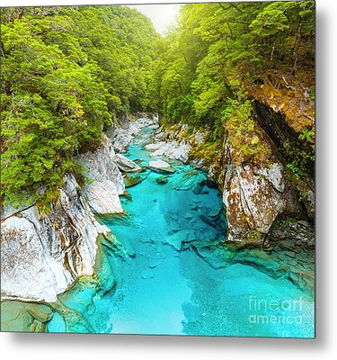 Blue Pools Metal Print by MotHaiBaPhoto Prints