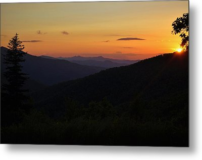 Blue Ridge Mountain Sunset Metal Print by Jeff Moose