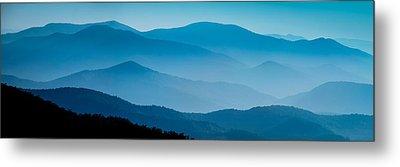 Blue Ridges Panoramic Metal Print