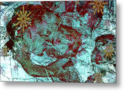Blue Rose Madonna Abstract Metal Print by Mindy Newman