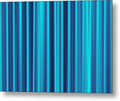 Metal Print featuring the digital art Blue Screen by Jeff Iverson