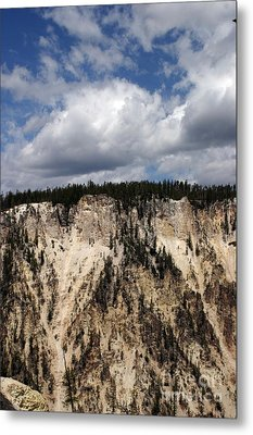 Blue Skies And Grand Canyon In Yellowstone Metal Print by Living Color Photography Lorraine Lynch