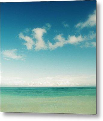 Blue Sky Over Ocean Metal Print by Jodie Griggs