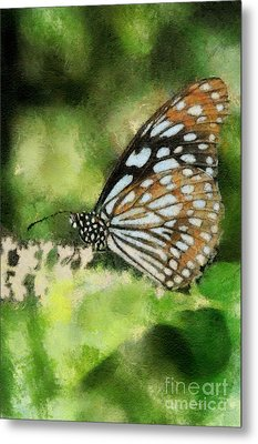 Blue Tiger Metal Print by Lois Bryan