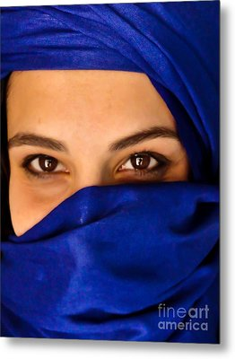Blue Turban Metal Print by Nabucodonosor Perez