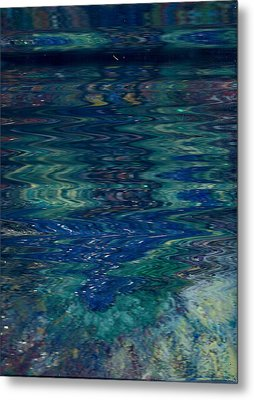 Blue Wake Metal Print by Anne-Elizabeth Whiteway