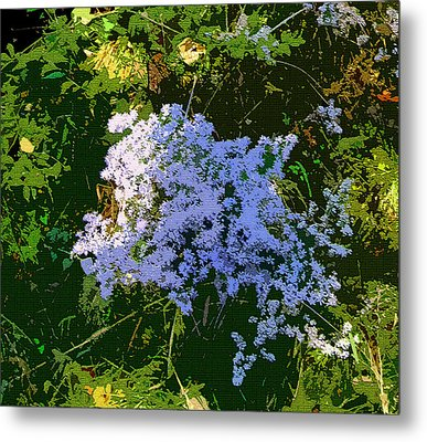 Blue Wild Flowers Metal Print by Mindy Newman