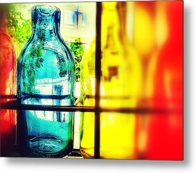 Blue Yellow And Red Metal Print by Olivier Calas