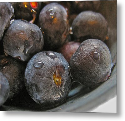 Metal Print featuring the photograph Blueberries  by Bill Owen
