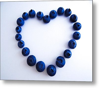 Blueberry Heart Metal Print by Julia Wilcox