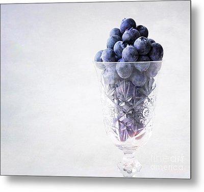 Blueberry Wine Metal Print