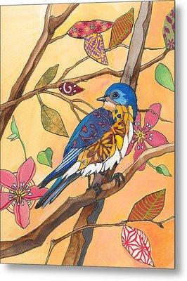Bluebird Fancy Metal Print by Marty Husted