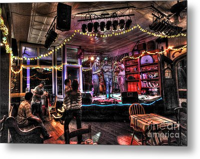 Bluegrass Band Playing Metal Print by Dan Friend