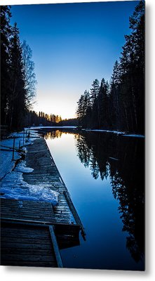 Metal Print featuring the photograph Blueness by Matti Ollikainen