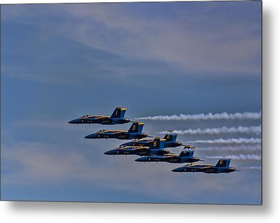 Metal Print featuring the photograph Blues by David Gleeson