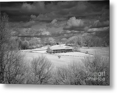 Bluffs Hotel Blue Ridge Parkway Metal Print by Dan Carmichael