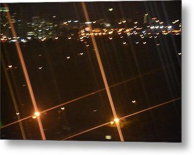 Blurred City Nights Metal Print by Naomi Berhane