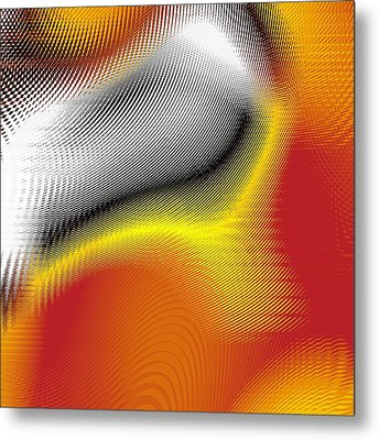 Metal Print featuring the digital art Blurred by Jeff Iverson