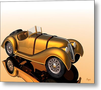 Metal Print featuring the digital art Bmw Roadster by John Pangia