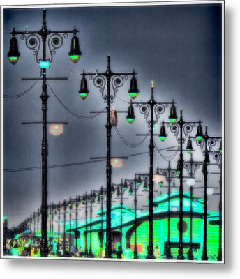 Metal Print featuring the photograph Boardwalk Lights by Chris Lord