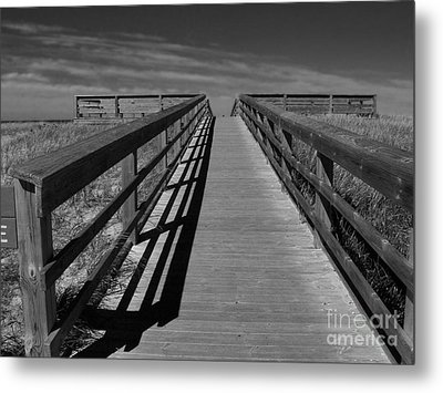 Metal Print featuring the photograph Boardwalk by Lin Haring