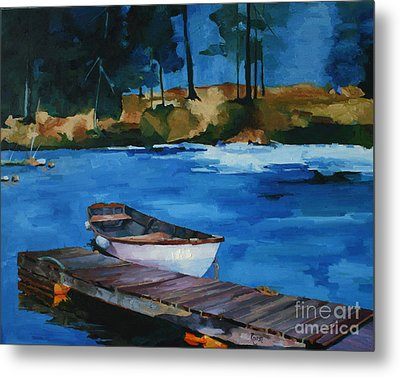 Boat And Bridge Metal Print by Pepe Romero