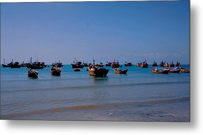 Metal Print featuring the photograph Boat by Arik S Mintorogo