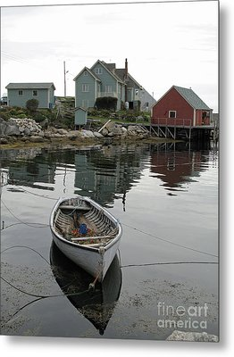 Boat At Peggy's Cove Metal Print by Louise Peardon