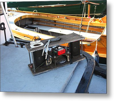 Boat Builders Music Box Metal Print by Kym Backland