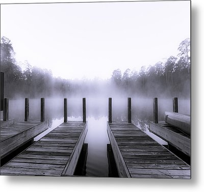 Boat House Metal Print by Mary Sparrow