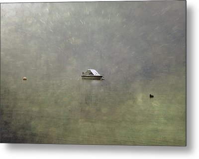 Boat In The Snow Metal Print by Joana Kruse
